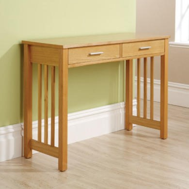 Mountrose Ashford 2 Drawer Console Table In Ash