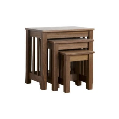 Mountrose Ashford Solid Wood Nest Of Tables With Walnut Veneers