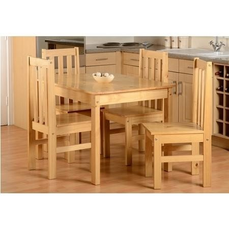 Ludlow Oak Effect Dining Table with 4 Chairs