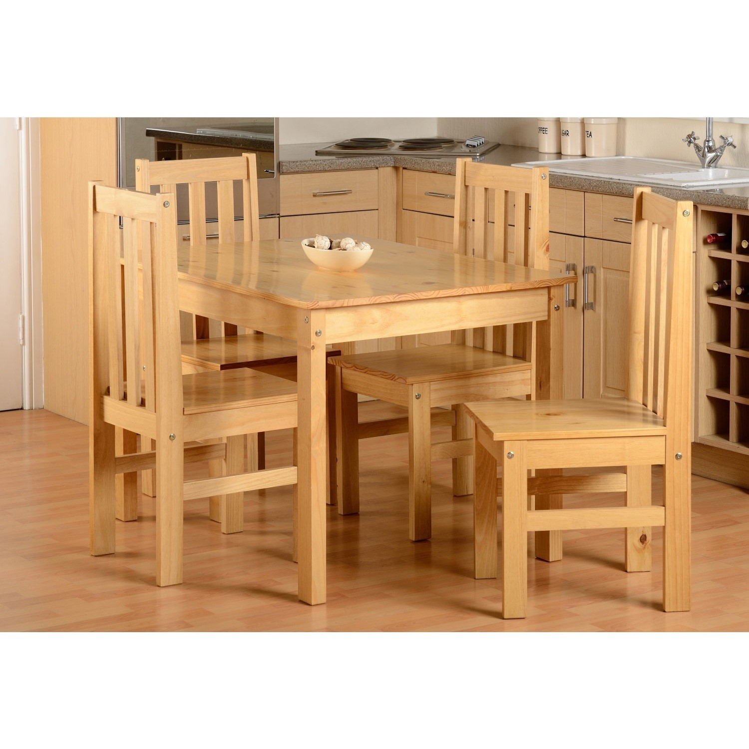 LUDLOW OAK EFFECT 4 SEATER DINING SET TABLE /& 4 CHAIRS NEW