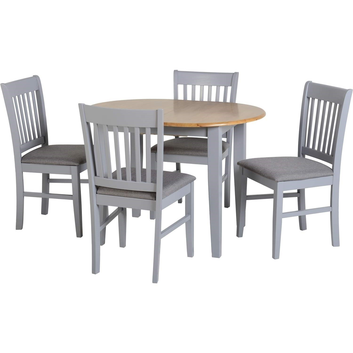 Seconique Oxford Extending Dining Set in Grey/Natural Oak/Gr