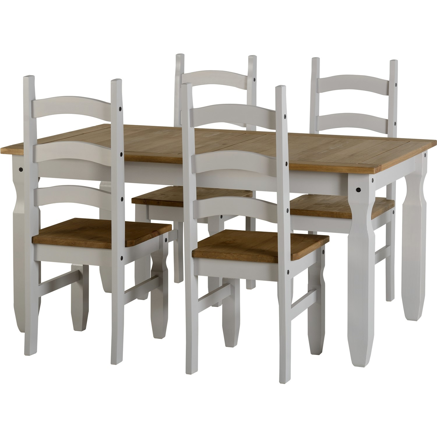 Seconique Corona Grey Dining Set And 4 Chairs