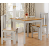 Ludlow Grey & Oak Effect Dining Set with Table & 2 Chairs