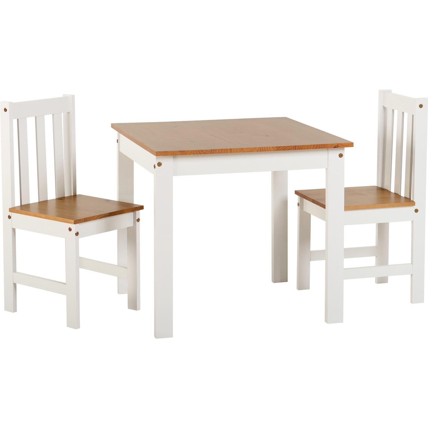 Etonnant Seconique Ludlow Dining Set In Oak U0026 White U0026 2 Matching Dining Chairs  400 401 163