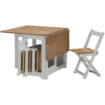 Folding Dining Table And Chairs Sets, Wooden Folding Dining Room Chairs