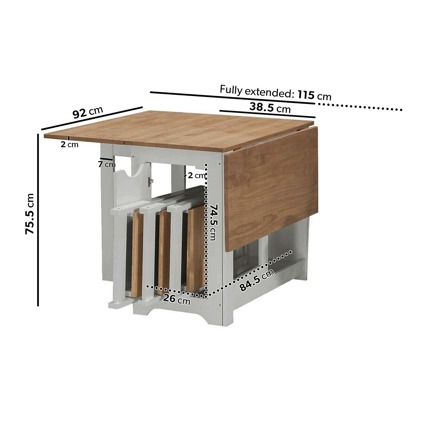 Picture of: Seconique Santos Butterfly Folding Dining Set In Grey Pine With 4 Dining Chairs Furniture123