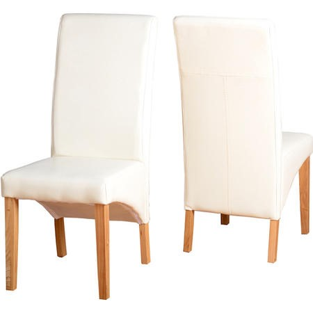 Seconique G1 Pair of Dining Chairs Cream PU