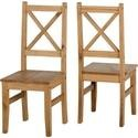 400-402-072 Seconique Salvador Solid Pine Pair of Dining Chairs