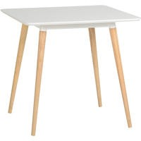 GRADE A2 - Seconique Julian Dining Table in White and Natural