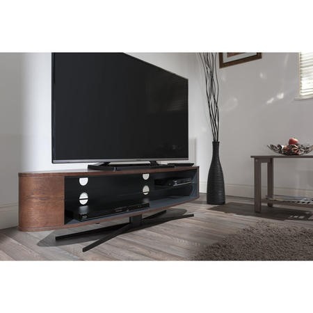 Techlink EL140DOSG Ellipse Dark Oak/Satin Grey TV Stand