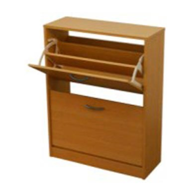 Meuble 2 Tier Shoe Cabinet in Beech - 16 Pairs