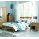 4800-43BD Bentley Designs Atlanta Solid Oak Double Bed