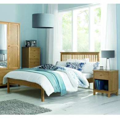 Bentley Designs Atlanta Solid Oak Double Bed