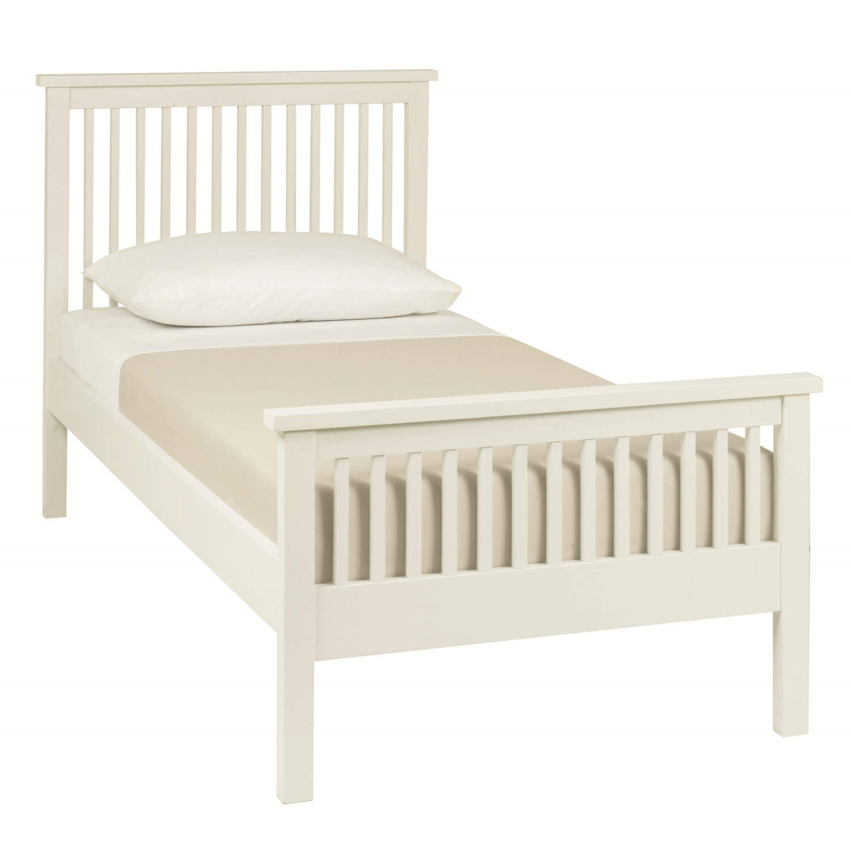 White Single Bed Uk Part - 37: Bentley Designs Atlanta Single Bed In White