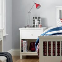 Bentley Designs Atlanta 1 Drawer Nightstand In White