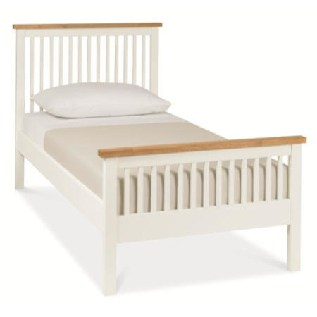 Bentley Designs Atlanta Single Bed in White and Oak