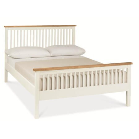 Bentley Designs Atlanta Double Bed in White and Oak