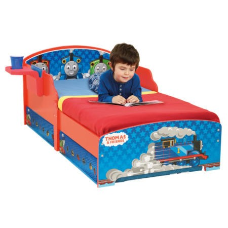 Thomas The Tank Engine Toddler Bed.Worlds Apart Thomas The Tank Engine Toddler Bed With Bedside Shelf And Under Bed Storage