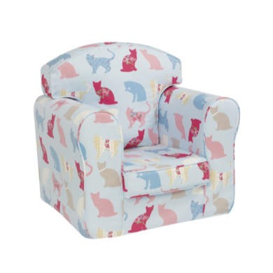 GRADE A2 - Light cosmetic damage - Just4Kidz Loose Cover Armchair in Kitty Kat