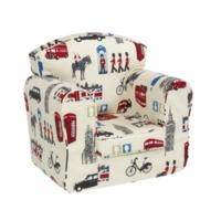 Just4Kidz Loose Cover Children Armchair - London Print