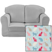 Just4Kidz Loose Cover Sofa in Kitty Kat