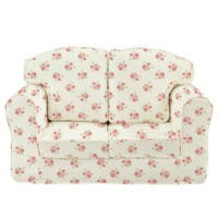 Just4Kidz Loose Cover Sofa in Rose Natural