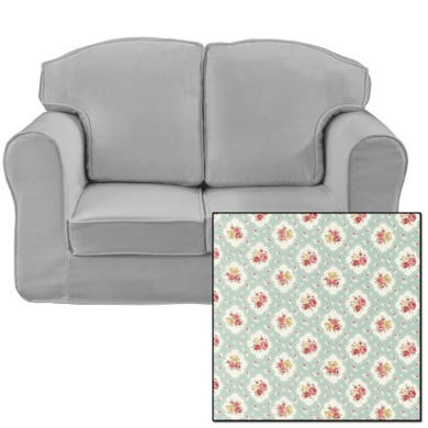 Just4Kidz Loose Cover Sofa in Floral Sky