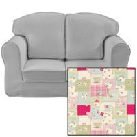 Just4Kidz Loose Cover Sofa in Tea For Two