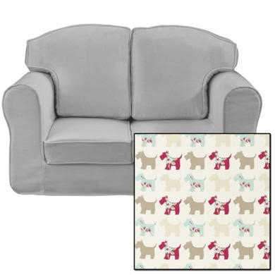 Just4Kidz Loose Cover Sofa in Scottie Dogs