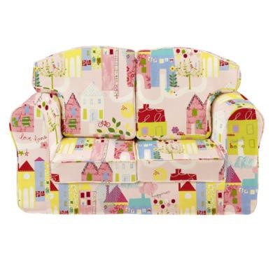 Just4Kidz Loose Cover Sofa in Happy Houses
