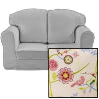 Just4Kidz Loose Cover Sofa in Song Bird