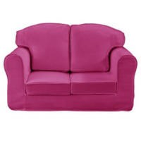 Just4Kidz Loose Cover Sofa in Pink