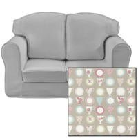 Just4Kidz Loose Cover Sofa in Beige Tea Cups