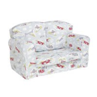Just4Kidz Loose Cover Sofa in Classic Racing Cars