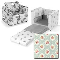 Just4Kidz Chair Bed in Floral Sky