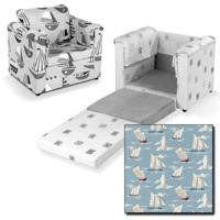 Just4Kidz Chair Bed in Sail Boats
