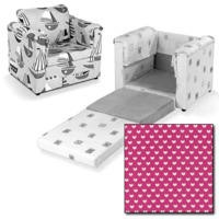 Just4Kidz Chair Bed in Pink Hearts