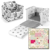 Just4Kidz Chair Bed in Tea For Two