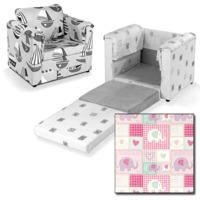 Just4Kidz Chair Bed in Patchwork Elephants