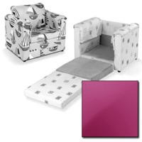 Just4Kidz Chair Bed in Pink