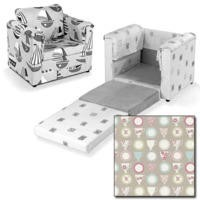 Just4Kidz Chair Bed in Beige Tea Cups