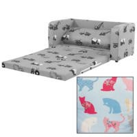 Just4Kidz Sofa Bed in Kitty Kat