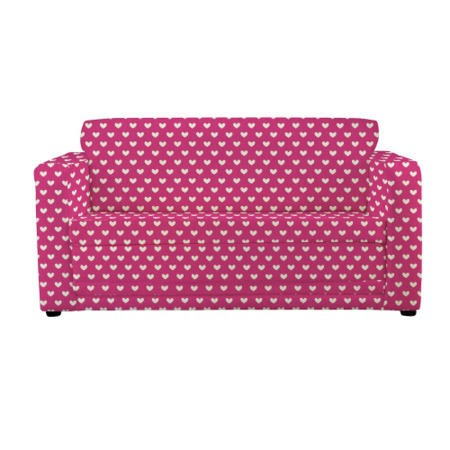 Just4kidz Sofa Bed In Pink Hearts Furniture123