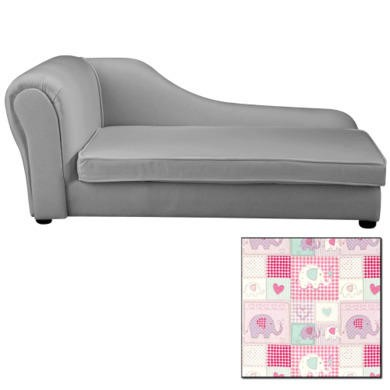 Just4kidz chaise longue in patchwork elephants furniture123 for Chaise longue patchwork