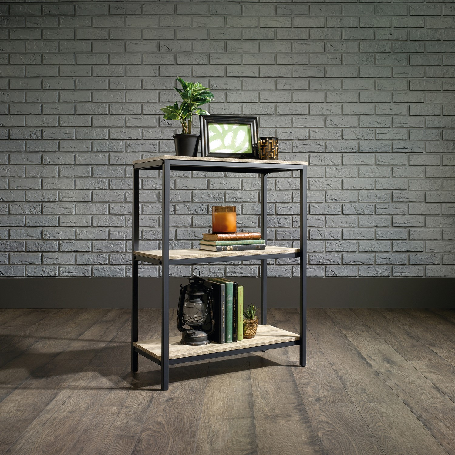 Photo of Industrial style 3 shelf bookcase