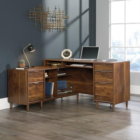 Teknik Office Clifton Place Walnut Corner Desk