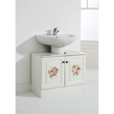 57032 Mountrose Hand Painted Underbasin Unit In Cream