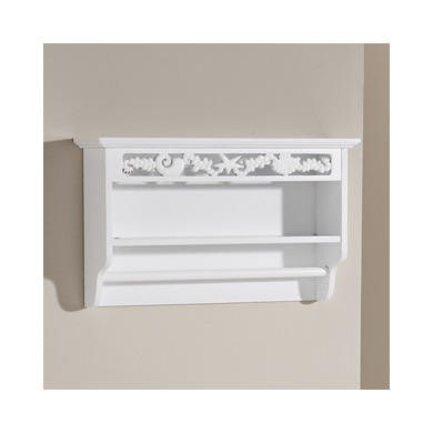 Mountrose Scroll Towel Rail With Shelf In White