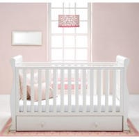 East Coast Alaska Sleigh Cot Bed in White