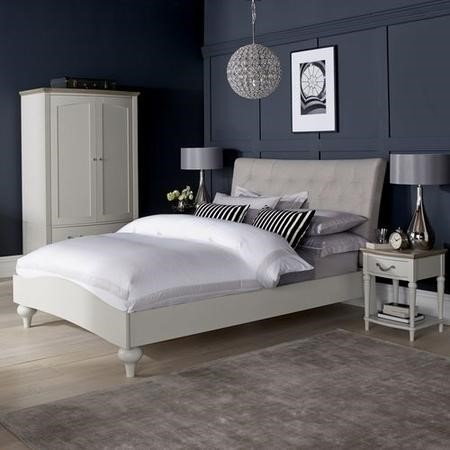 Bentley Designs Montreux Kingsize Soft Grey Upholstered Bed